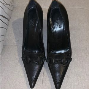 Gucci black pointy shoes